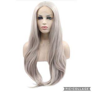 eNilecor Silver Platinum Blonde Wig Long